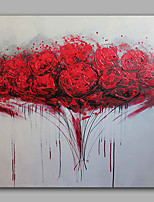 Oil Painting Modern Abstract Flowers Hand Painted Canvas with Stretched Frame