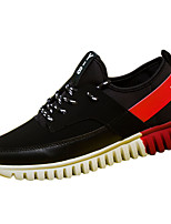 Men's Spring / Fall Comfort / Round Toe Suede Outdoor / Casual Flat Heel Black / Blue / Black and Red Sneaker