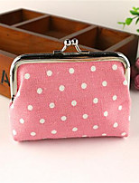 Women-Formal-Canvas-Coin Purse-Pink / Blue / Yellow / Brown