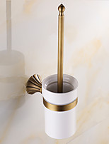 Toilet Brush Holder / Brushed / Wall Mounted /20*10*37 /Brass /Antique /20 10