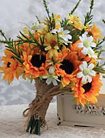 Bouquets de Noiva Forma-Livre Lírios Buquês Casamento / Festa / noite Cetim 8.66