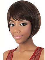 Black Brown Color Cosplay Wigs Heat Resistant Synthetic Wholesale Short Straight Party Cosplay Wig