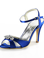 Women's Shoes Silk Stiletto Heel Heels / Peep Toe Heels Wedding / Party & Evening / DressBlack / Blue / Yellow / Pink