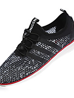 Men's Shoes Tulle Outdoor / Casual Fashion Sneakers Outdoor / Casual Indoor Court Flat Heel Others Black / White