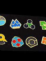 Pocket Little Monster Ash Ketchum League Badges 8 Pieces in a Set Version F