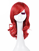 High Quality Natural Long Curly Red Color Synthetic Wig For White Women