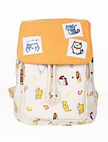 Cartoon Cat Backyard Canvas Backpack