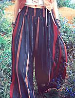 Aporia.As® Femme Taille Normale Ample Bleu Pour tous les jours Pantalon-MZ11054