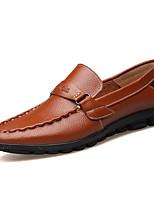 Men's Shoes Cowhide Outdoor Flats Outdoor Walking Flat Heel Slip-on Black / Blue / Brown / Yellow
