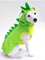 Cat / Dog Costume / Clothes/Jumpsuit Green / Yellow Winter / Spring/Fall Animal Halloween, Dog Clothes