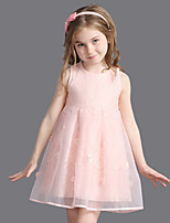 Girl's Cotton Summer Fashion  Sleeveless Princess Yarn Dress