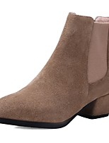 Women's Shoes Suede Chunky Heel Fashion Boots / Motorcycle Boots / Round Toe Boots Office & Career / Dress / Casual