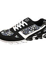 Men's Spring / Fall PU Athletic Flat Heel Others Black / Blue / Gray Running