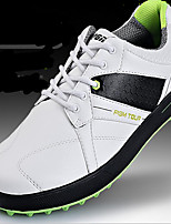 Men's Shoes Leatherette Outdoor / Athletic Sneakers Outdoor / Athletic Golf Flat Heel Gore Black and White