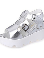 Women's Shoes PU Summer Wedges Heels Casual Wedge Heel Others Black / Yellow / White / Silver / Gray