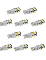 10pcs T10 9SMD 5050 White Color DC 12V Car LED Light Interior Bulbs Wedge Lamp