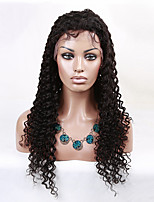 Freeshipping Brazilian Virgin Hair Wig Lace Front Wig High Density Natural Popular Small Curly Lace Wig