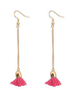 Concise Fashion Chain Tassel Earrings