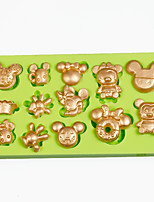 Mini Cartoon Anger Birds Pig Silicone Mold Polymer Clay Chocolate Candy Making Sugarcraft Tools Fondant Cake Decorations