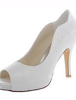 Women's Shoes Stretch Satin Spring / Summer / Fall Heels Heels Wedding /  Dress Stiletto Heel Others Ivory