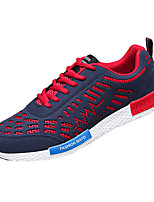 chaussures pour hommes PU chaussures de mode casual décontracté courir d'autres talon plat bleu / gris / noir et blanc