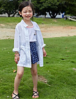 Girl's Casual/Daily Patchwork Suit & Blazer,Cotton Summer Green / White