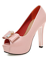 Women's Shoes Leatherette Spring / Summer  / Party & Evening / Dress / Casual Stiletto HeelBowknot / Imitation