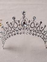 Damen Strass / Legierung Kopfschmuck-Hochzeit Tiara / Stirnbänder 1 Stück Silber Rund 16