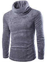 Men's Solid Pullover,Cotton / Acrylic Long Sleeve 916225