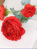 1 1 Ramo Poliéster / Plástico Lótus Flor de Mesa Flores artificiais 24*3.5inch/61*9cm