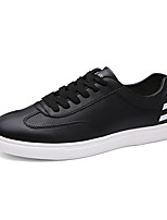 Men's Shoes PU Outdoor / Casual Sneakers Outdoor / Casual Walking Flat Heel Others / Lace-up White / Black and White