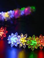 Solar Fairy String Lights 10m/33ft 60 LED Lotus Decorative Gardens, Lawn, Patio, Christmas Trees, Weddings