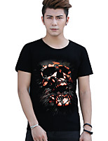 Men's Skulls Stereoscopic Printing Design 3D Cotton T-shirt