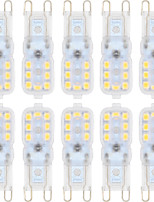 3W G9 LED à Double Broches T 14 SMD 2835 300 lm Blanc Chaud / Blanc Froid Gradable AC 100-240 / AC 110-130 V 10 pièces