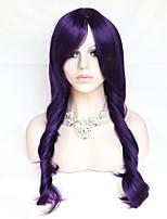 Color Cosplay Wig Purple 26 Inch High Temperature Curly Hair Silk Wig