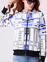 Women's Casual/Daily Sophisticated Hoodies Print Multi-color Others