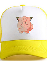 Hoed/Pet Pocket Monster Ash Ketchum Anime Cosplay Accessoires Wit / Geel Charmeuse