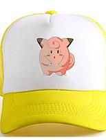 Sombrero/Gorra Pocket Monster Ash Ketchum Animé Accesorios Cosplay Blanco / Amarillo Charmeuse