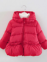 FanXingBeiYiGirl's Casual/Daily Solid Down & Cotton Padded,Cotton Winter Blue / Pink / Red