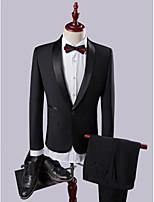 Dark Shawl Collar Slim Fit Two-Piece Suit