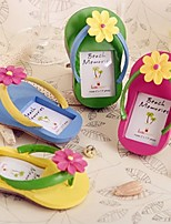 Wedding Decoration - 4pcs/set - Flip-Flop Photo Frame with Flower Accent