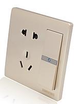 5 отверстий 110v-220v выключатель с розеткой