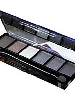 6 couleurs fard à paupières nude comestic longue maquillage beauté durable
