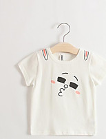 Girl's Casual/Daily Solid Blouse,Cotton Summer Brown / Green / Pink / White / Yellow