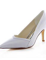 Women's Shoes Stretch Satin Spring /  Fall Heels / Pointed Toe Heels Wedding /  Dress Stiletto Heel White