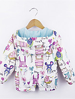 Girl's Casual/Daily Print Trench Coat,Cotton Fall Multi-color