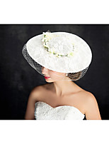 Women's Lace / Tulle / Flax Headpiece-Special Occasion Fascinators 1 Piece Clear Irregular 25