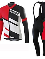 KEIYUEM®Others Winter Thermal Fleece Long Sleeve Cycling Jersey+Bib Tights Ropa Ciclismo Cycling Clothing Suits #W29
