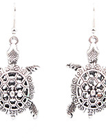 Personality Retro Folk Style Hollow Carved Turtle Earrings