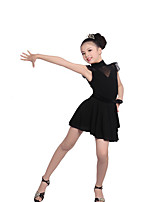 Ballet Outfits Children's Performance Cotton / Crepe Ruched 2 Pieces Short Sleeve Natural Top / Skirt
